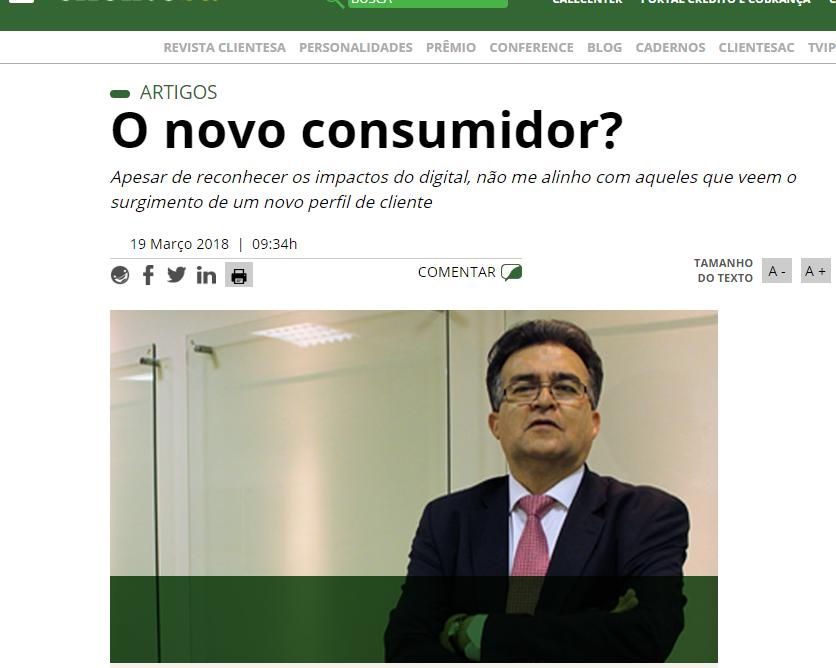 Revista Cliente SA: Artigo O novo consumidor?